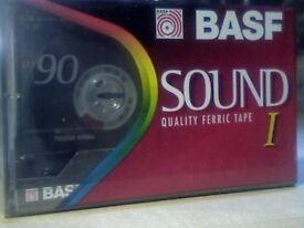 BASF CHROME & NORMAL TAPES? PLEASE READ THE AD. NEW SEALED BASF SOUND I FERRIC 90 CASSETTE TAPES