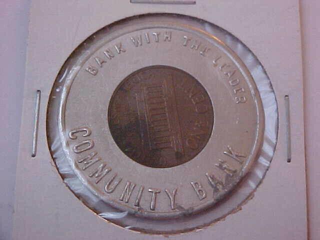 1975-D Community Bank Encased Cent