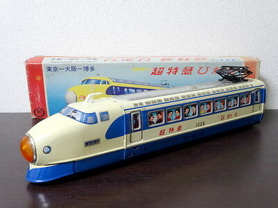 1970s Super Express Train Hikari Type 0 Shinkansen ICHIKO Vintage Tin Toy