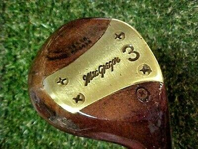 Rare PERSIMMON Macgregor Ben Hogan RH Golf Club 3 Wood w Original Leather Grip