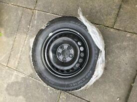 "4 x new 16"" VW steel wheels, tyres and trims"