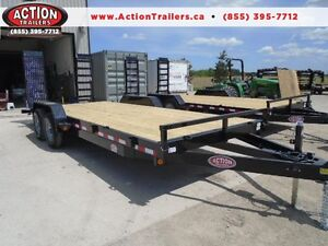 Equipment 7 ton trailer - 7 x 18 - ready for pickup - BUILT HD London Ontario image 1