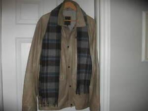 manteau de cuir de qualité supérieure