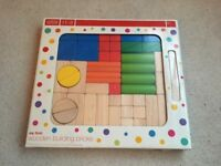 Marks and Spencer Wooden Blocks Set NEW in box