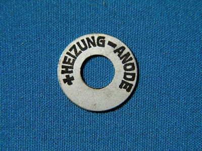 Originales Schild von einem Radio der 20er Jahre. LgNr. F3444