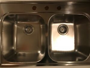 NEW BLANCO DOUBLE SINK STAINLESS STEEL