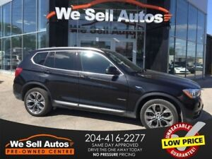 2016 BMW X3 xDrive28i *LTHR *NAV *MOONROOF *CAM *HTD SEATS