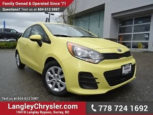 2016 Kia Rio LX+ ACCIDENT FREE w/ POWER WINDOWS/LOCKS, BLUETO...