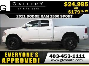 2011 DODGE RAM SPORT LIFTED *EVERYONE APPROVED* $0 DOWN $179/BW!