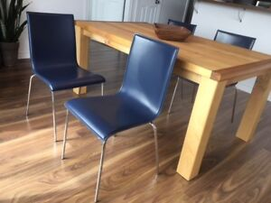 4 Chaises bleu (made in italia)