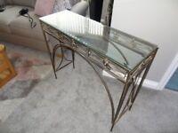 Glass top hallway table
