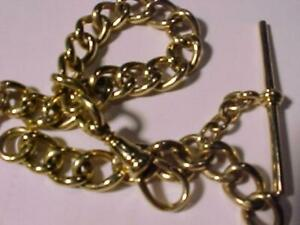 Kents Ltd 14k Hallmarket watch chain and drop fob link-Edwardian(around 1910?)aBeautiful piece of the past Free s?h Cana