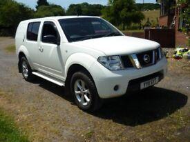 Nissan Pathfinder Van 2011 reg, 169bhp, 4WD,