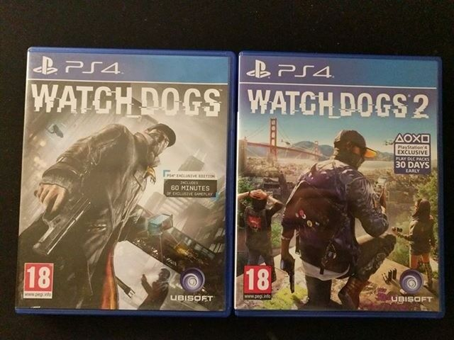 Watch Dogs 1 & Watch Dogs 2 Playstation PS4