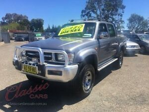 2000 Toyota Hilux LN167R (4x4) Grey 5 Speed Manual 4x4 Dual Cab Pick-up Lansvale Liverpool Area Preview