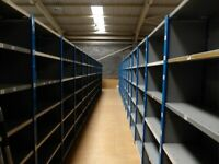200 bays of dexion impex industrial shelving ( storage , pallet racking )