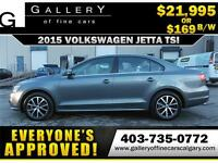 2015 Volkswagen Jetta TSI $139 bi-weekly APPLY NOW DRIVE NOW