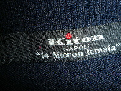 Navy Kiton  M V neck 100% superfine light wool the best money can buy