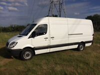 MERCEDES SPRINTER 313 CDI BLUE EFFICIENCY DIESEL 2012 12-REG LWB FULL SERVICE HISTORY DRIVES PERFECT