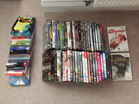 Job Lot of DVD's Blue Rays Wii Games and CD's Great for CAR Boot