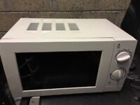 microwave oven, perfect working condition white