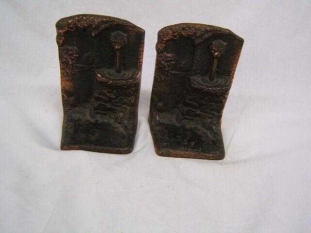 Vintage Pair of Judd Co Bronze Lion