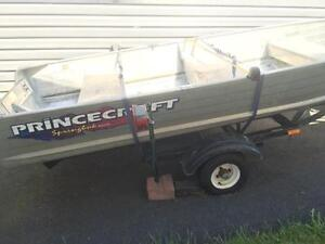 12ft Princecraft Boat, 4hp Suzuki motor & Trailer