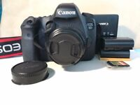 Canon EOS 6d Camera - Full Frame + Lens Adaptor, 50mm 1.8 lens & Extra batteries