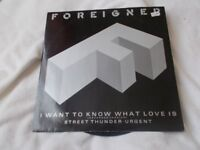 """Vinyl 12"""" 45 I Want To Know What Love Is / Street Thunder / Urgent – Foreigner Atlantic A 9596T"""