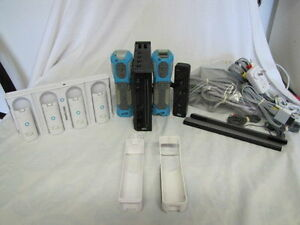 WII SYSTEM CONSOLE REMOTES GAMES NERF CASES CHARGING DOCK BATTRY