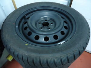 4 X 205 55R16 GT RADIAL + ROUES TOYOTA 5 X 100 COROLLA ETC...