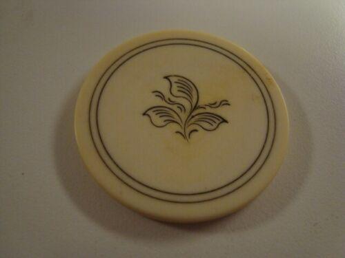 Circa 1880s Old West 3-Leaf Design Poker Chip, Version 3