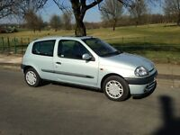 2001 RENAULT CLIO 1.4 - M.O.T'D TILL MAY 2017 - GOOD CONDITION