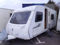 2009 Swift Challenger 570 4 Berth FIXED BED and full REAR WASHROOM Inc mover and Awning.