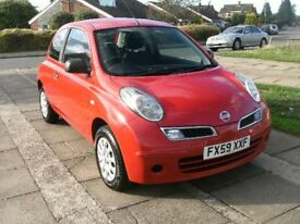 2009 NISSAN MICRA VISIA 1.2 RED 12 MONTH M.O.T. FULL SERVICE HISTORY