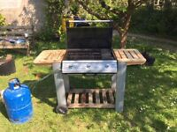Outback 3 burner BBQ with Stainless steal burners and a hot plate - Good used condition