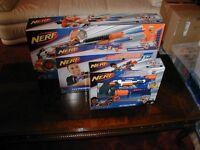 New Nerf 3 x motorised N strike elite machine gun bundle, Rhino, Hyperpower and Stockade.