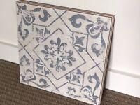Antique Vintage Blue Harran Floor Tiles