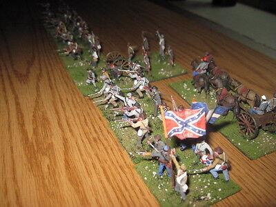 52 Painted 1/72 - US Civil War South Carolina Confederate Infantry & Artillery !