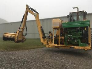 "Used Diamond 21' Wheel Loader Boom with 50"" Flail Head"