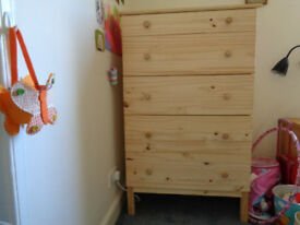 STORAGE 5 DRAWERS-PINE WOOD-IKEA