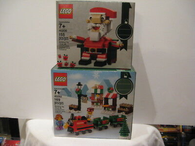 LEGO SEASONAL HOLIDAY 2018 TRAIN #40262- 169 pcs & 2017 SANTA #40206- 155 pcs