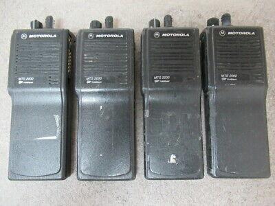 Motorola Mts 2000 Flashport H01ucd6pw1bn 16 Channel 2way Radio Lot Of 4 8592p