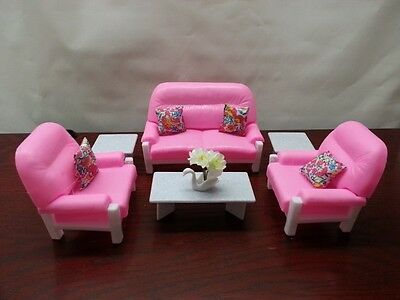 Gloria , Barbie Doll House Furniture/(94014) Living Room Play Set