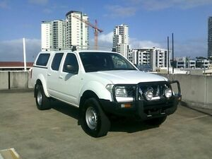 2010 Nissan Navara D40 RX White 6 Speed Manual Utility Southport Gold Coast City Preview