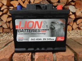 Brand new car battery 063 40ah 340 cca Lion