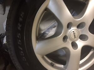 4 Winter Tires and Rim (Used) R255/55 r18 St. John's Newfoundland image 1