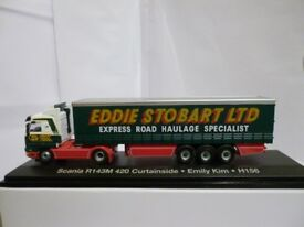 "Oxford Diecast Eddie Stobart Scania 143 Curtainside ""Emily Kim"" H159 - 1:76 Scale"