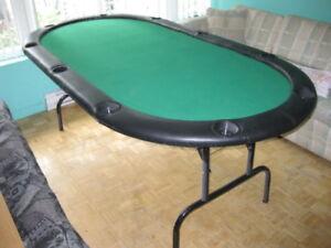 TABLE  DE POKER PLIANTE