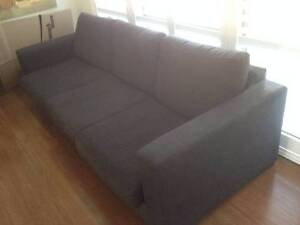 Free Freedom Charcoal Grey Sofa's Glen Alpine Campbelltown Area Preview